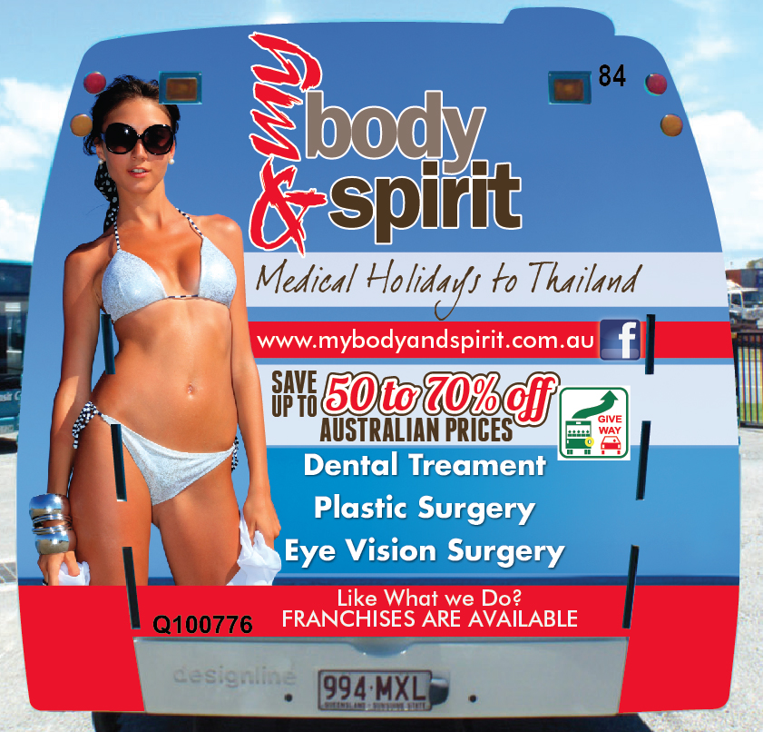 My Body and Spirit Surgery Holiday Bus Advertising
